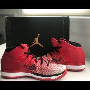 Nike Air Jordan boys sneakers. Size 6. Red.